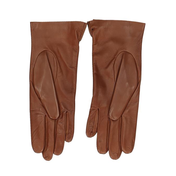 Hnědé dámské kožené rukavice s prošitím junek, hnědá, 944-3212 - 16