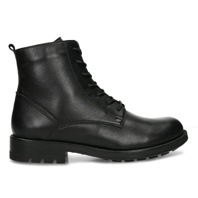 Černá dámská kožená kotníková obuv bata, černá, 594-4633 - 19