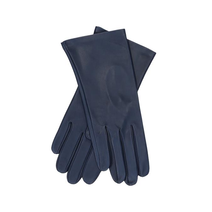 Tmavě modré dámské kožené rukavice junek, modrá, 944-9101 - 13