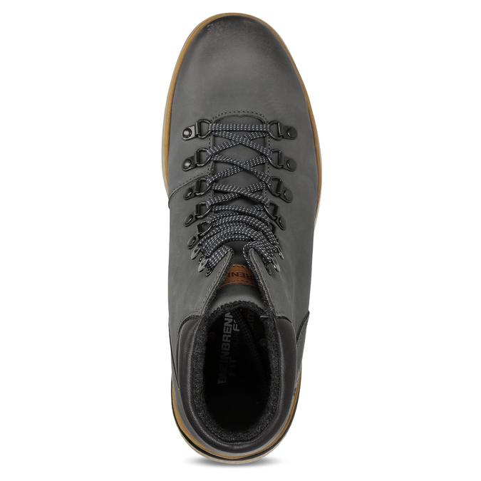 Šedá pánská kožená kotníková obuv na zimu weinbrenner, šedá, 896-2649 - 17