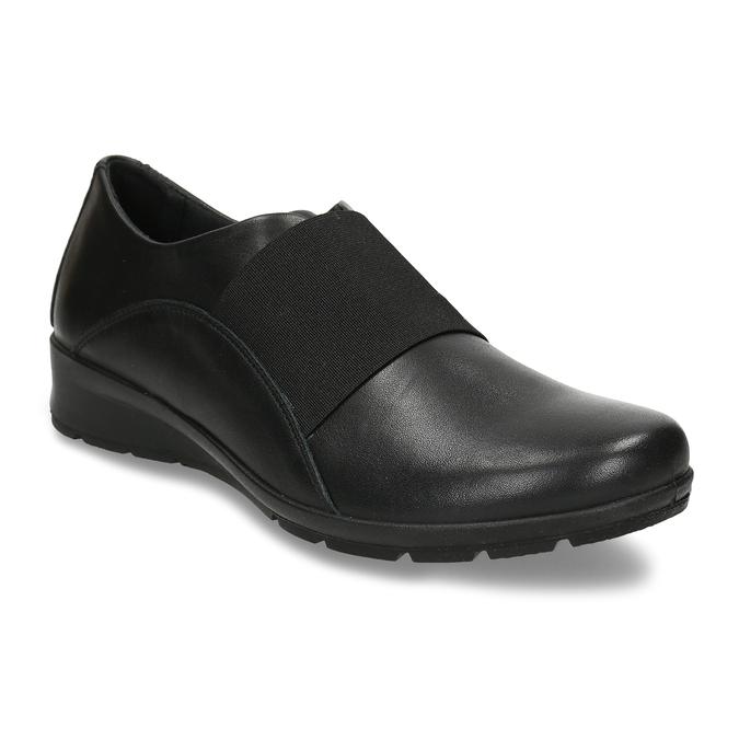 Černá kožená dámská obuv s pružením na nártu comfit, černá, 524-6640 - 13