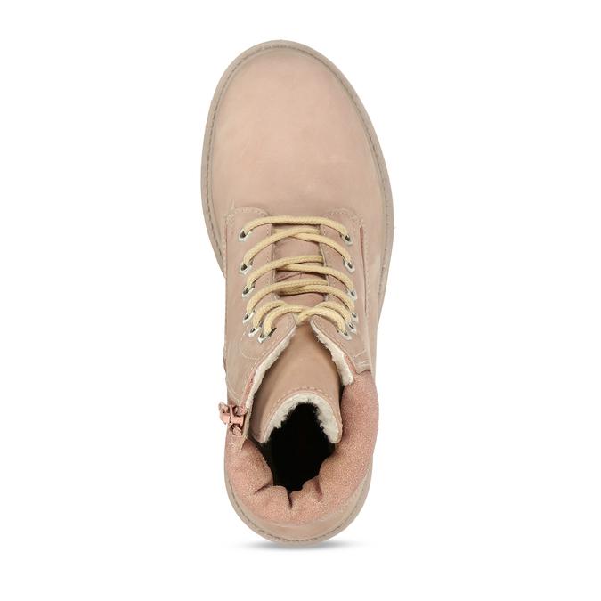 Světle růžová kožená dívčí kotníková obuv weinbrenner, růžová, 426-5614 - 17
