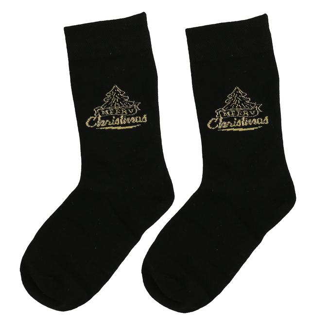 Sady tří dámských vánočních ponožek bata, zlatá, 919-0917 - 26