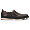 Pánská kožená slip-on obuv hnědá pikolinos, hnědá, 836-4602 - 19