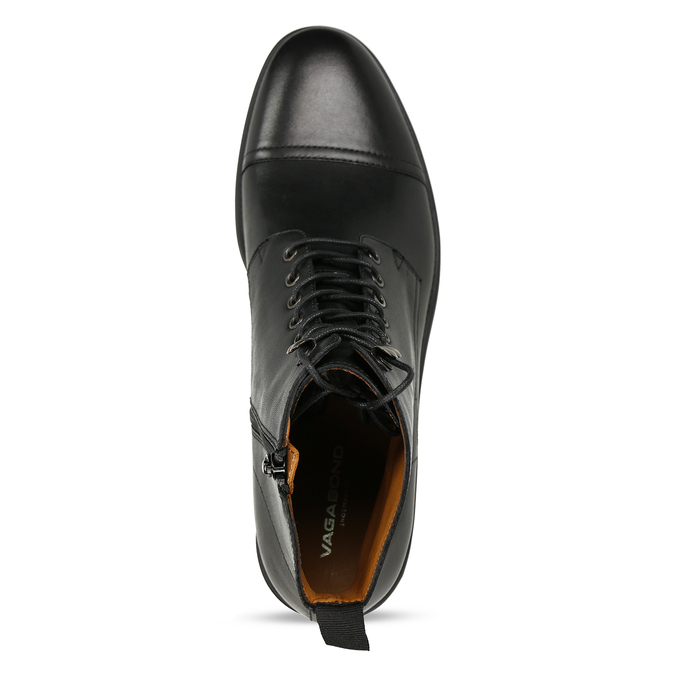 Elegantní pánská kotníková obuv kožená vagabond, černá, 894-6609 - 17