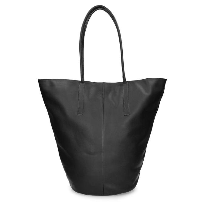 Kožená dámská kabelky s asymetrickým střihem vagabond, černá, 964-6618 - 16