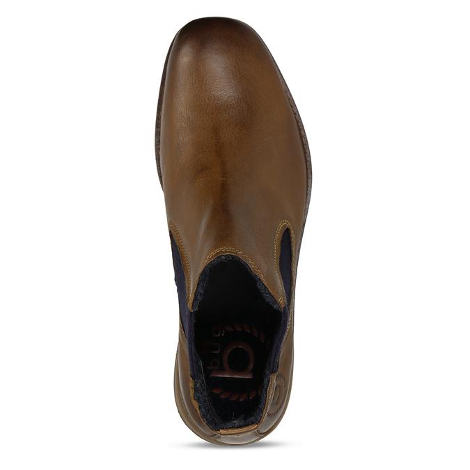 Hnědá pánská kožená Chelsea obuv bugatti, hnědá, 896-4893 - 17
