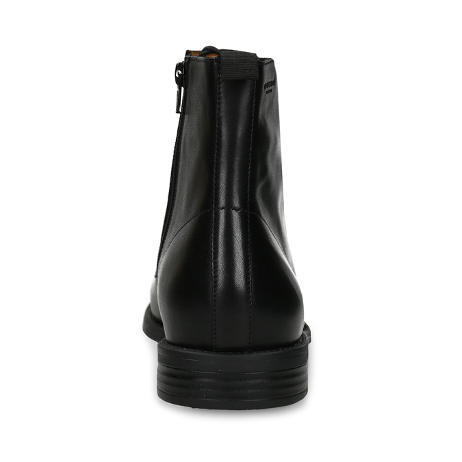 Elegantní pánská kotníková obuv kožená vagabond, černá, 894-6609 - 15