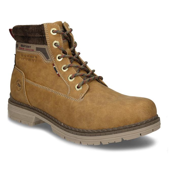 Hnědá pánská kotníková obuv ve farmářském stylu bata, hnědá, 891-8658 - 13