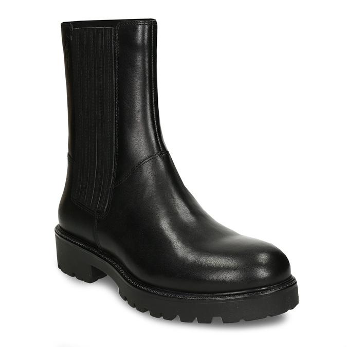 Dámská kožená kotníková obuv na hrubé podešvi vagabond, černá, 694-6648 - 13