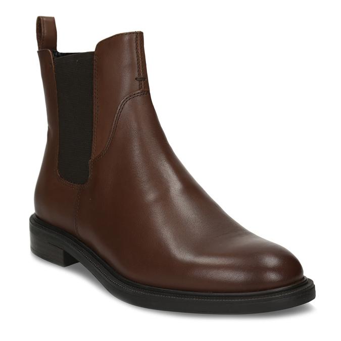 Hnědá kotníková dámská kožená obuv vagabond, hnědá, 594-4628 - 13