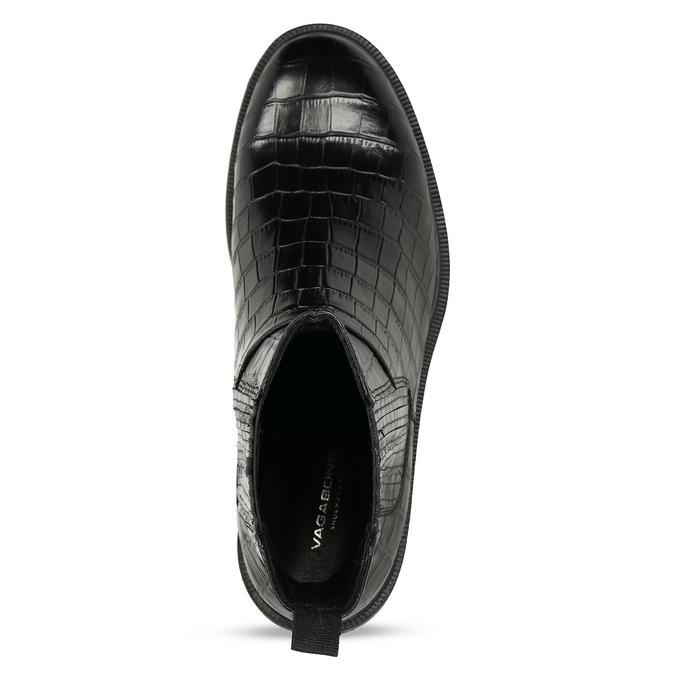 Černá kožená dámská Chelsea obuv vagabond, černá, 594-6699 - 17