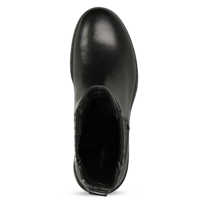 Dámská kožená kotníková obuv na hrubé podešvi vagabond, černá, 694-6648 - 17