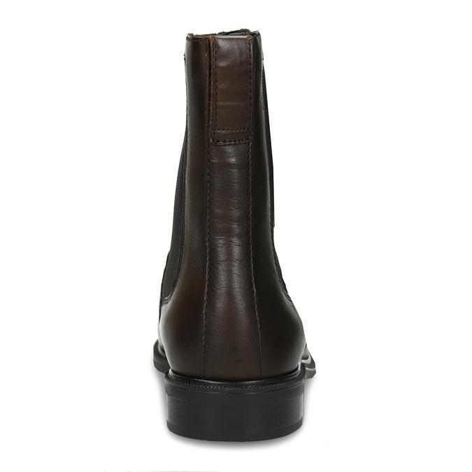 Tmavě hnědá dámská Chelsea obuv kožená vagabond, hnědá, 594-4629 - 15