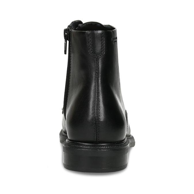 Černá dámská kožená kotníková obuv na zip vagabond, černá, 594-6706 - 15