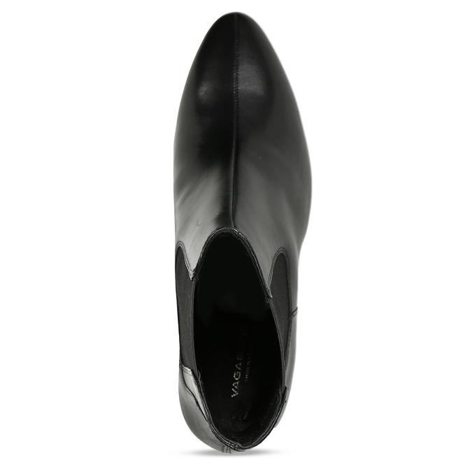 Dámská Chelsea obuv v černé kůži vagabond, černá, 794-6627 - 17