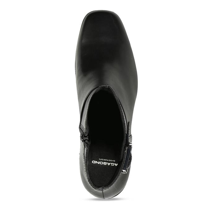 Dámská kotníková obuv v černé kůži s přezkou vagabond, černá, 794-6629 - 17