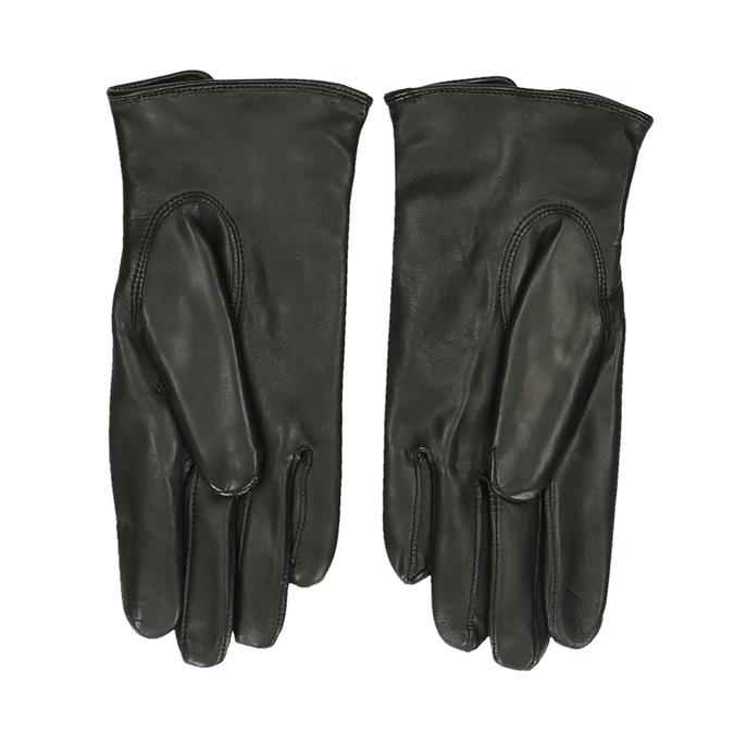 Pánské kožené rukavice černé junek, černá, 944-6112 - 16