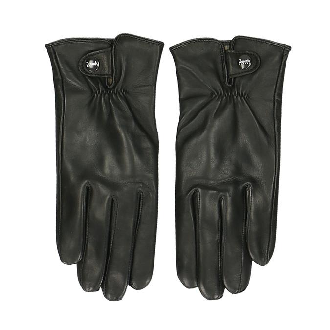 Pánské kožené rukavice černé junek, černá, 944-6112 - 26