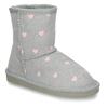 Šedé dívčí sněhule s růžovými srdíčky coqui, šedá, 291-2602 - 13