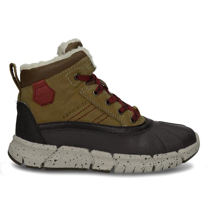 Hnědá chlapecká kotníková zimní obuv geox, hnědá, 391-8378 - 19