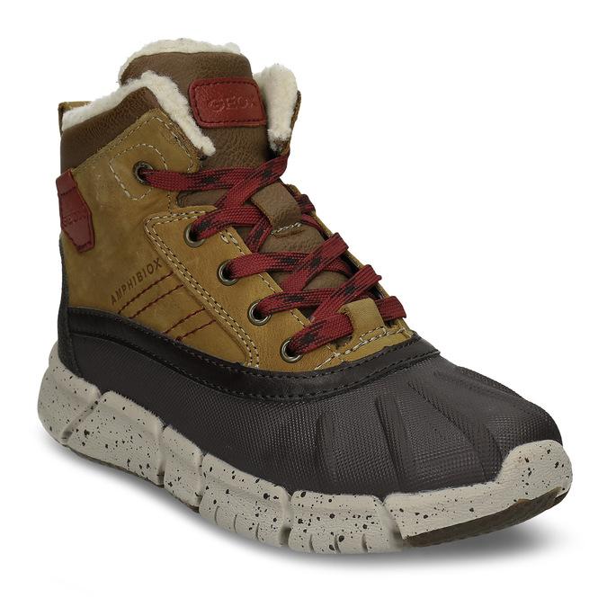 Hnědá chlapecká kotníková zimní obuv geox, hnědá, 391-8378 - 13