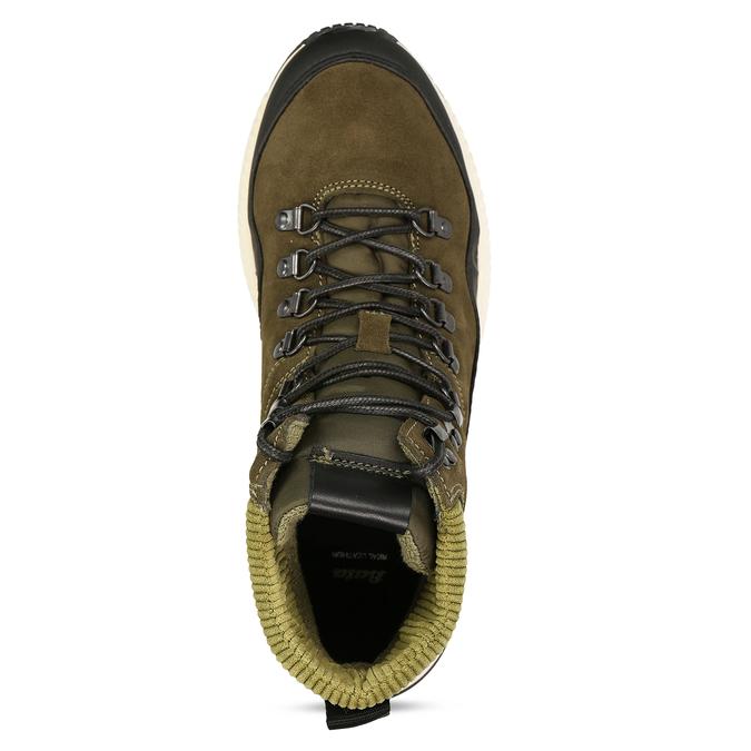 Zelená pánská kožená kotníková obuv na zimu bata, zelená, 893-7620 - 17