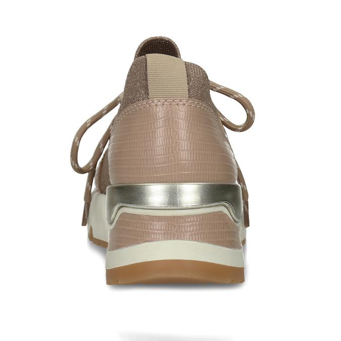Dámské béžové tenisky na flatformě bata, béžová, 549-8616 - 15