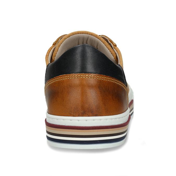 Kožené pánské tenisky v městském stylu hnědé bata, hnědá, 846-8616 - 15