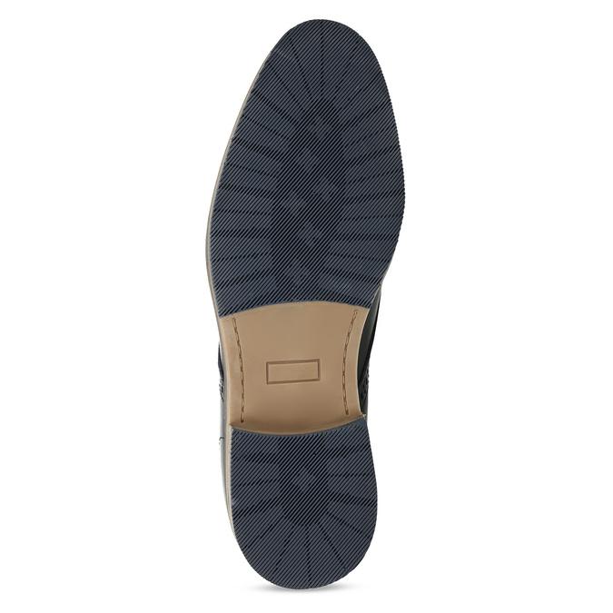 Kožené modré pánské polobotky bata, modrá, 826-9627 - 18