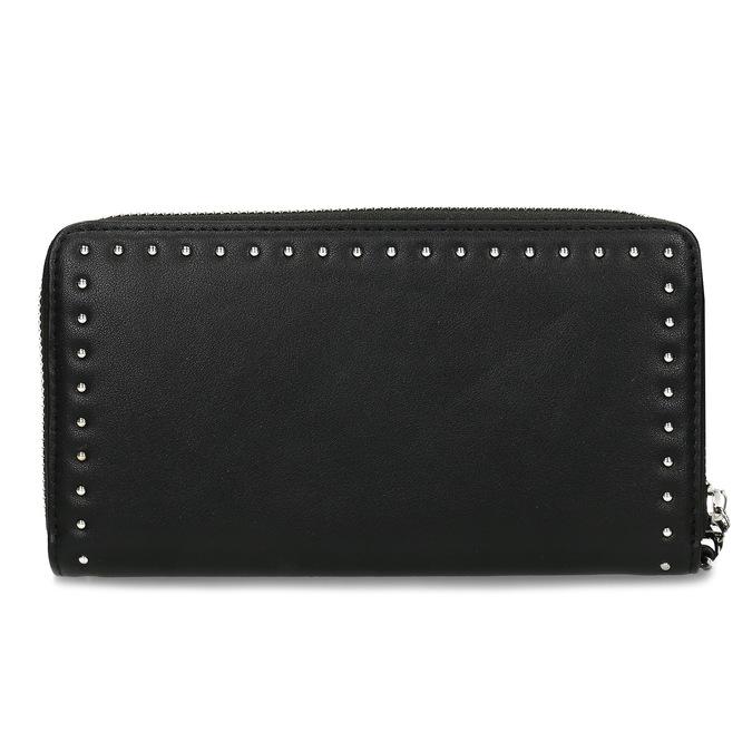 Černá dámská peněženka s aplikací bata, černá, 941-6124 - 16