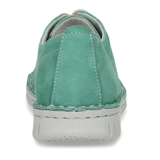 LEŽÉRNÍ ZELENÉ DÁMSKÉ TENISKY KOŽENÉ bata, zelená, 526-7600 - 15