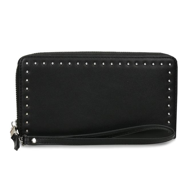 Černá dámská peněženka s aplikací bata, černá, 941-6124 - 26