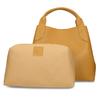 Žlutá kožená dámská kabelka s vnitřní taštičkou bata, žlutá, 964-8626 - 26