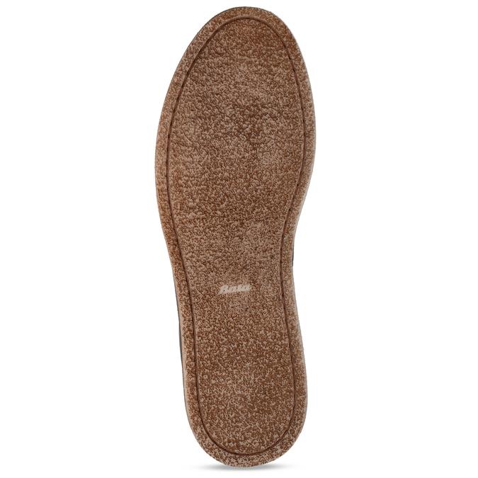 Hnědé kožené polobotky bata, hnědá, 823-8600 - 18