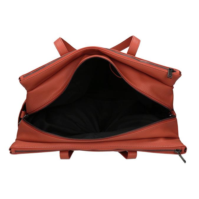 Oranžová dámská kabelka velká bata, oranžová, 961-5646 - 15