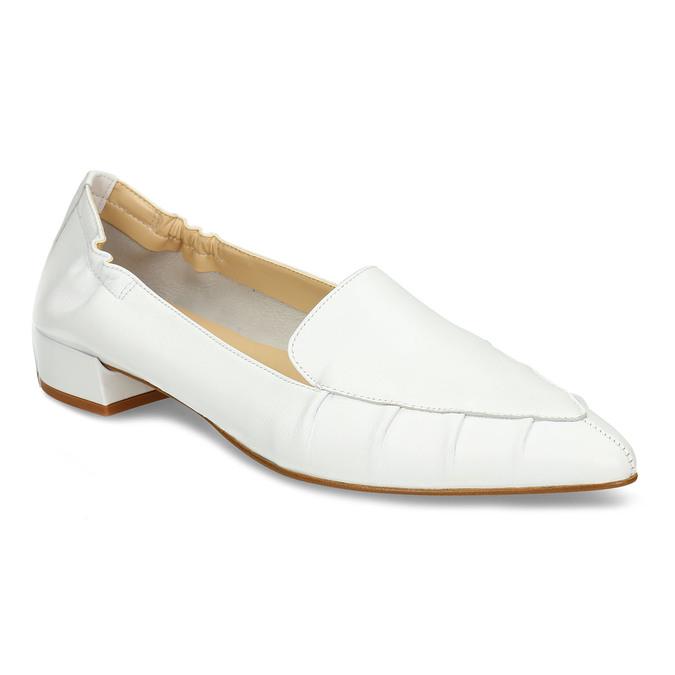 Bílé kožené dámské lodičky do špičky bata, bílá, 524-1618 - 13