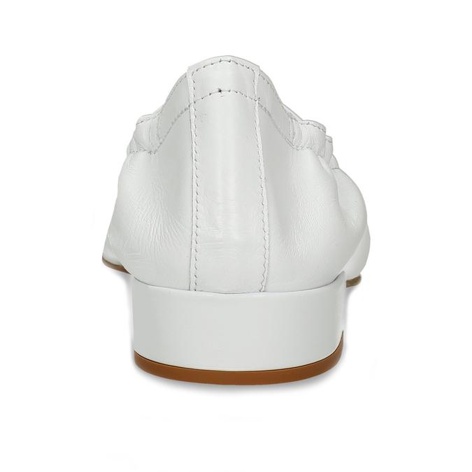 Bílé kožené dámské lodičky do špičky bata, bílá, 524-1618 - 15