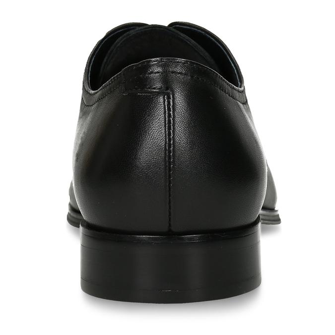 Pánské kožené polobotky černé bata, černá, 824-6732 - 15