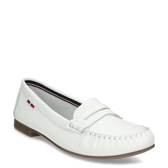 Bílé kožené dámské mokasíny bata, bílá, 524-1600 - 13