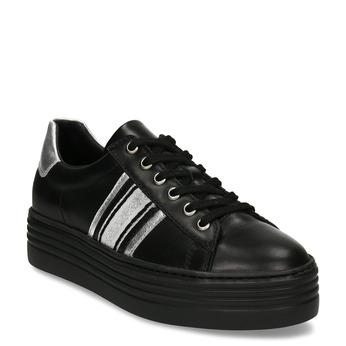 Černé dámské kožené tenisky bata, černá, 544-6623 - 13