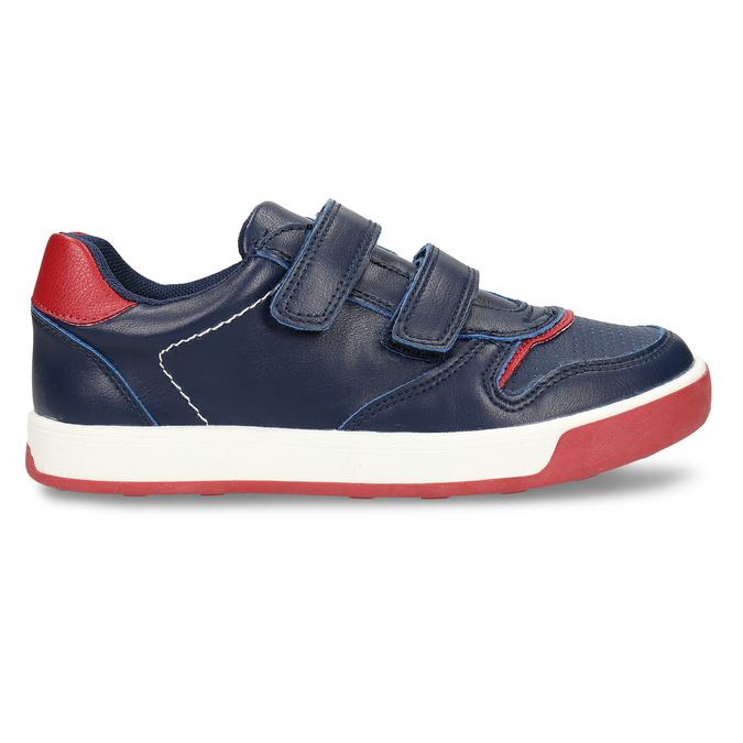 Modré dětské tenisky na suchý zip mini-b, modrá, 311-9602 - 19