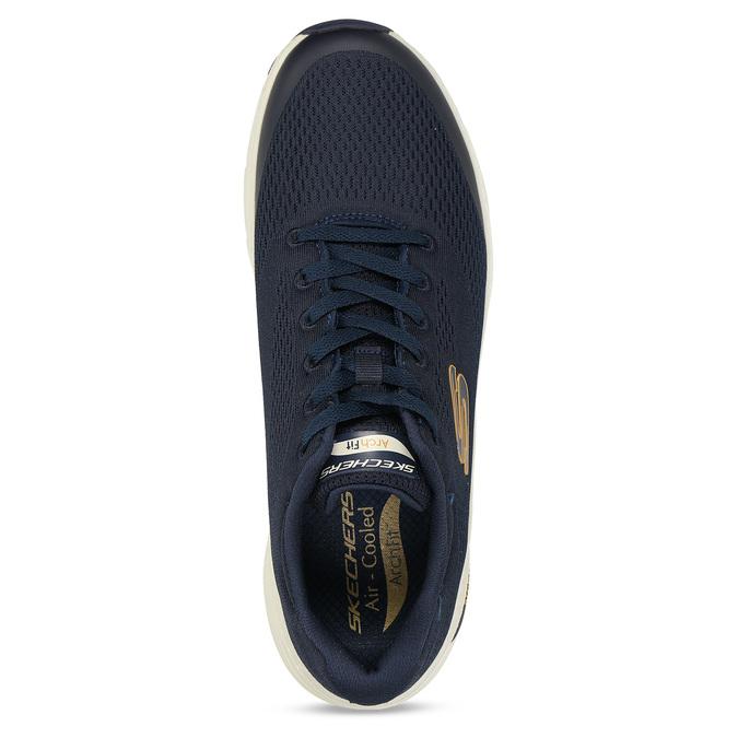 Modré pánské sportovní tenisky skechers, modrá, 809-9121 - 17