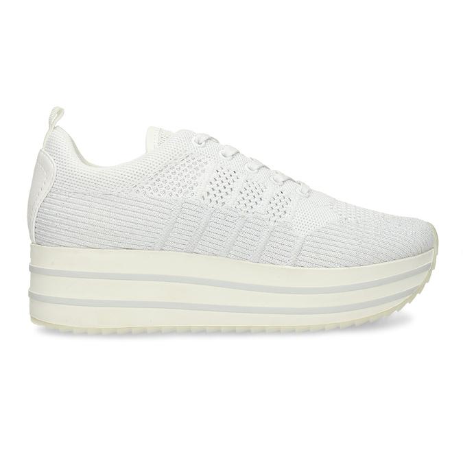 Bílé dámské tenisky na flatformě bata-light, bílá, 549-1600 - 19