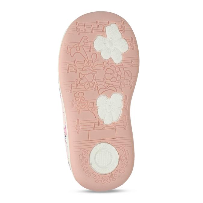 Růžové dívčí sandály na suchý zip bubblegummers, růžová, 121-5600 - 18