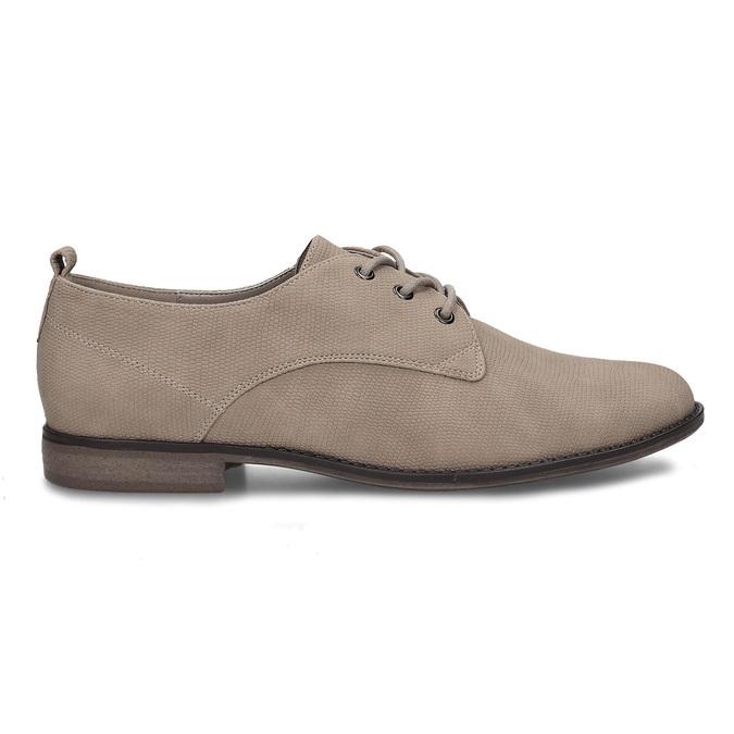 Béžové dámské polobotky bata, béžová, 521-8603 - 19