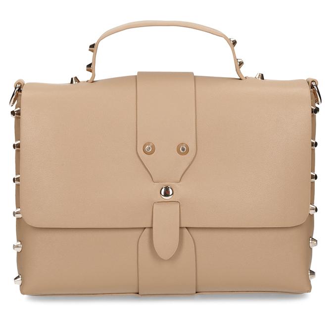 Béžová dámská kabelka s hroty bata, béžová, 961-8640 - 26