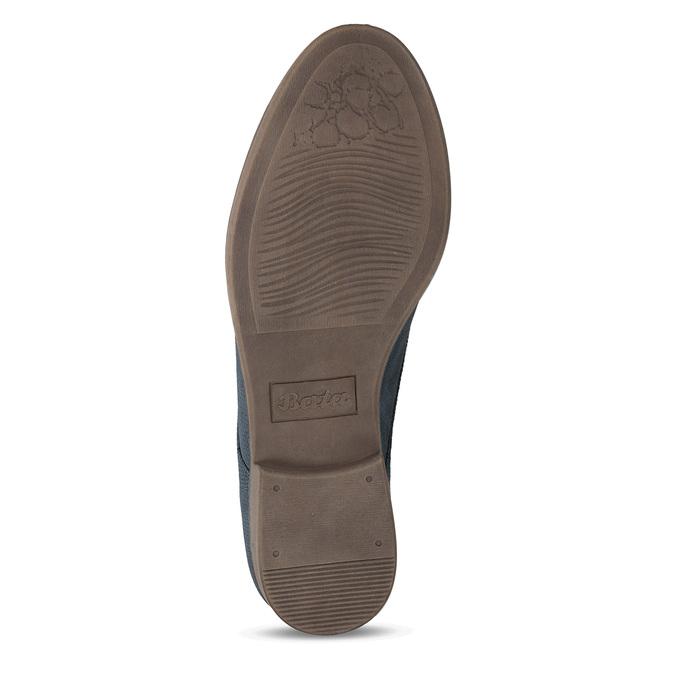 Modré dámské polobotky bata, modrá, 521-9603 - 18