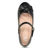 Dívčí černé baleríny s mašlí mini-b, černá, 221-6601 - 17