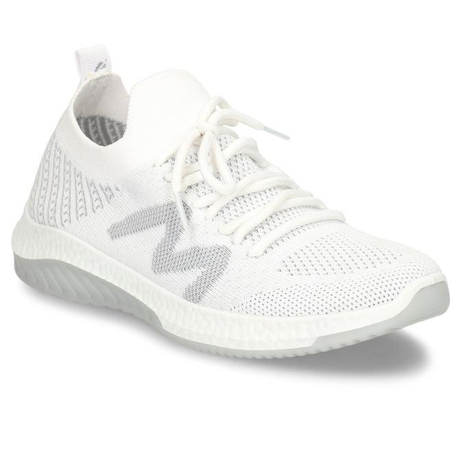 Bílé dámské odlehčené sportovní tenisky bata-light, bílá, 529-1600 - 13